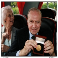 Jimmy Armfield Shows His Medal