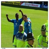 Poleon Celebrates Ross Goal