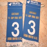1972 FA Cup Final Sock Tabs