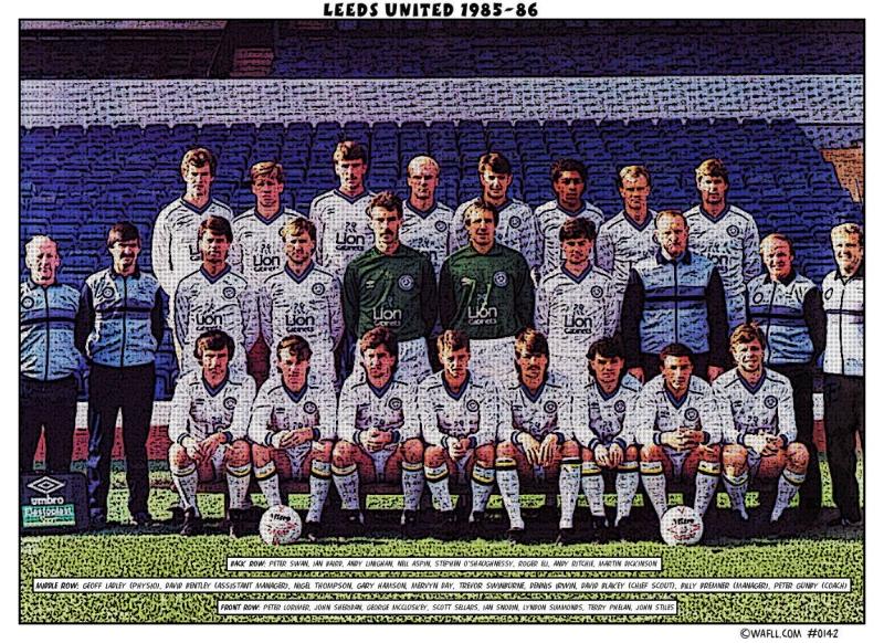 Leeds United 1985-86 No.0142