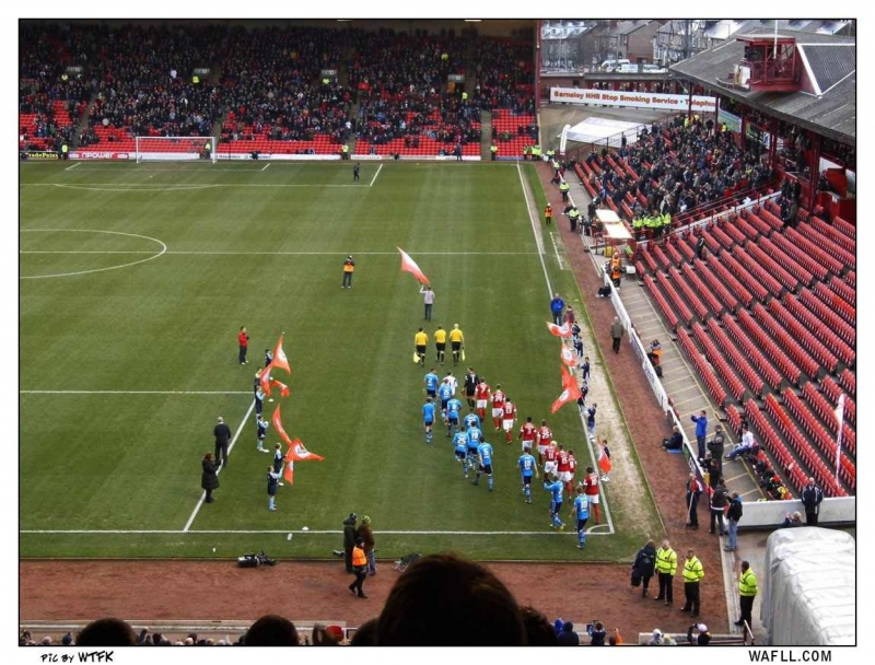 Onto The Oakwell Pitch